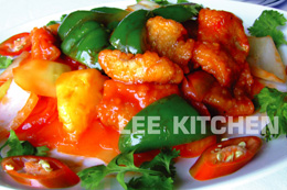 Fried Fillet of Fish Sweet & Sour Sauce