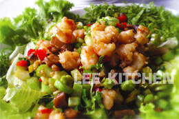 Sauteed Chopped Prawns with Chilli